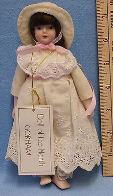 Vintage Gorham Porcelain Doll Of The Month July 1983 Original Box