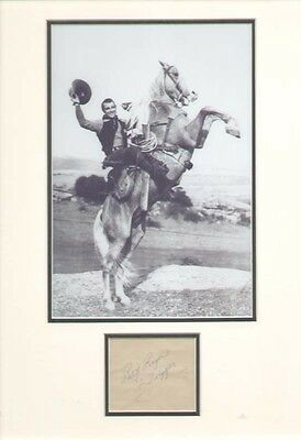 Roy Rogers (Trigger) Signed Autograph