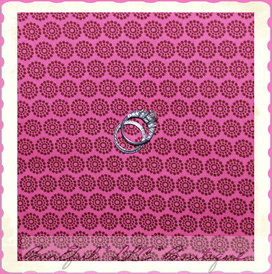 BonEful Fabric FQ Quilt Cotton Quilt Pink Brown FLOWER Small Little S Calico Dot