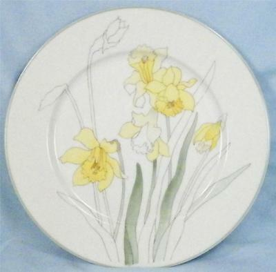 Lovely Daffodil Salad Plate Watercolors Block Spal Portugal Mary Lou Goertren