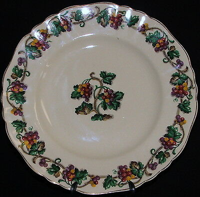 "J&G Meakin Sunshine Grapes 9 3/4"" Dinner Plate R#561073 Sol 381413 England"