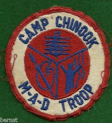 Vintage  Boy Scout Camp Patch - Camp Chinook - Soiled