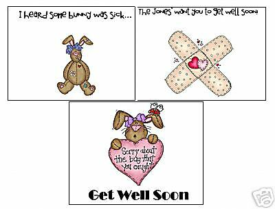 Personalized Get Well Note Cards