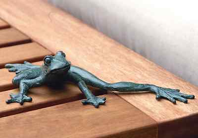 Froggy Longlegs Iron Frog Figurine Garden Pond Pool Tropical Beach Decor