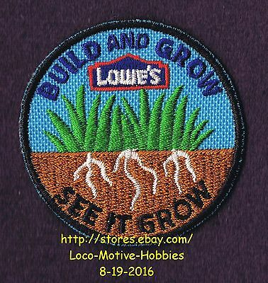 LMH PATCH Badge  2010 SEE IT GROW  Build & Grow LOWES Kids Clinic Grass Roots