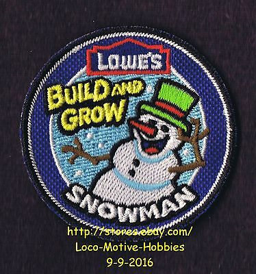 LMH PATCH Badge  SNOWMAN  Winter Snow Man  Build & Grow LOWES  Kid's Clinic
