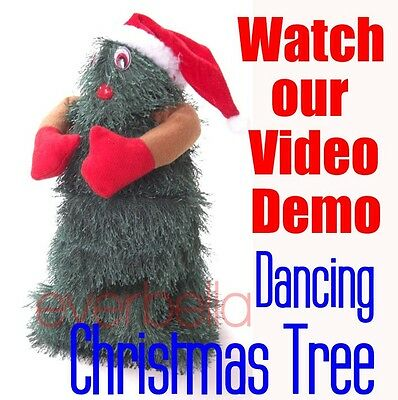 """NEW 10"""" Singing and Dancing Artificial Christmas Tree 9998"""