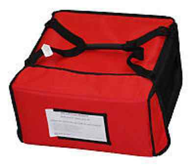 "Carry-4 16"" Red Denier Thermal Bag W/Black Trim (case 5)"