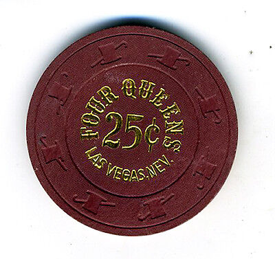 Old 25 Cent Poker Chip from the Four Queens Casino Nevada