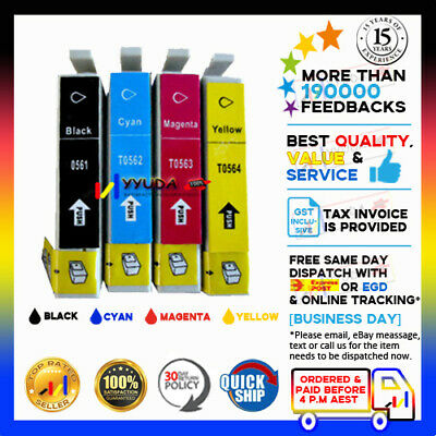 28x Ink Cartridge T0561-T0564 for Epson Stylus Photo R250 RX430 RX530 Printer