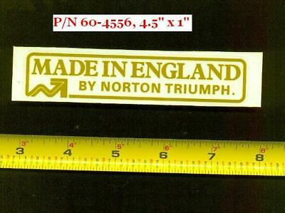 "Norton Commando MK3, Triumph Trident T160 "" Made in England "" OEM Fender DECAL"