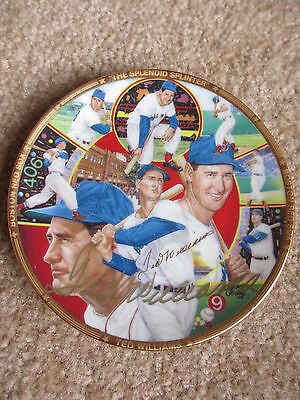 Ted Williams  Autographed Sports Impressions Mini Plate #2