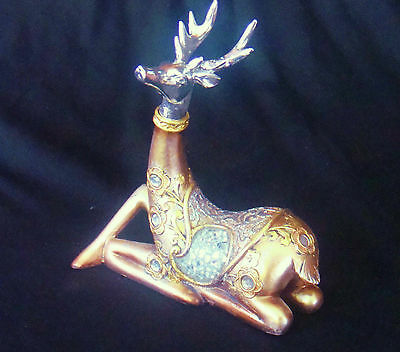 ANY OCCASION GIFT 15.5cm  ANTELOPE  RESIN CRAFT DESKTOP  LOUNGE ORNAMENT