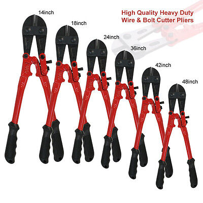 "Heavy Duty Carbon Steel Wire Cable Bolt Cutters 8 14 18 24 30 36 42""Croppers"