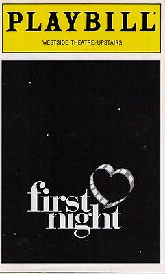 First Night Broadway Playbill - Daniel Mcdonald
