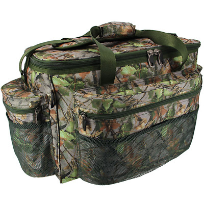 Brand New  Large Green Camo Carp Pike Coarse Fishing Tackle Bag Holdall