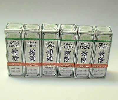 6 X Kwan Loong Pain Relief Medicated Oil Singapore 57Ml 均隆驅風油