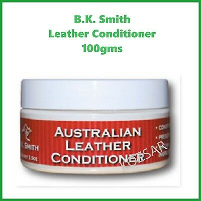AUSTRALIAN MADE Leather Conditioner 100gm -Multi Purpose - BK Smith