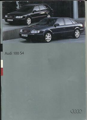 Audi 100 S4 And 100 Estate S4 Sales Brochure  1994