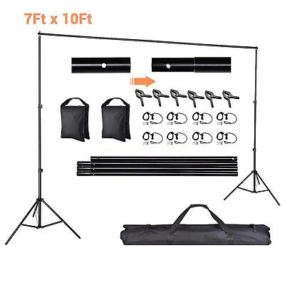 Adjustable Photography Photo Background Backdrop Support Stand Kit 10ft x6.5ft