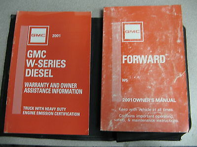 2001 GMC Forward W5 Owners Owner's Manual w/Case