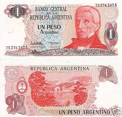 ARGENTINA 1 Peso Banknote World Money UNC Currency p311a South America BIll Note