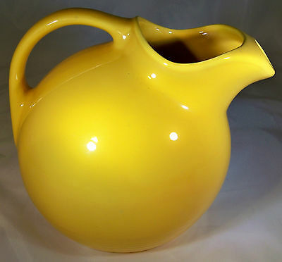 Vintage Homer Laughlin Harlequin Yellow Service Water Pitcher!