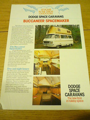 DODGE ( BUT LOOKS LIKE A COMMER ) BUCCANEER SPACEMAKER BROCHURE  jm