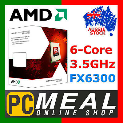 AMD FX-6300 6-Core Desktop CPU BLACK EDITION Processor 3.5GHz AM3+ Socket 8MB