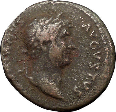 HADRIAN 117AD Large Rare Ancient Roman Coin Lady Justice Justitia i30804