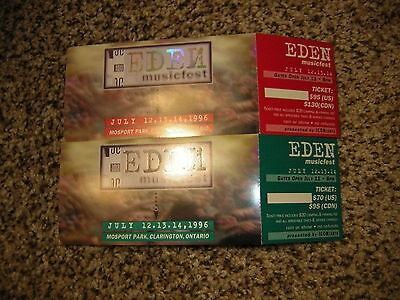 Eden Musicfest Unused Ticket Lot Of 2 The Cure Goo Goo Dolls Porno For Pyros