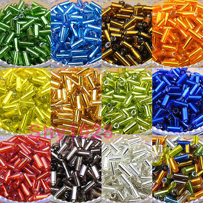 800Pcs Tube Czech Glass Seed Spacer Beads 2x4mm 11colors-1 Or Mixed R5003