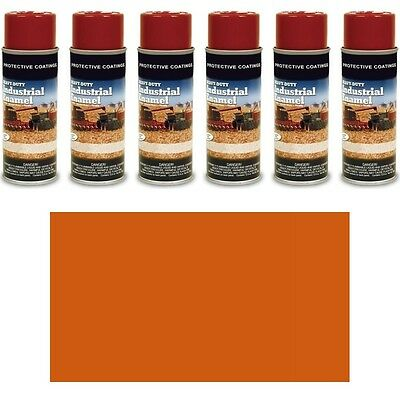 TP370SP Pack of Six (6) New #1 Orange Spray Paint Cans for Several Kubota Models