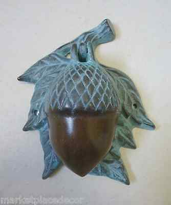 Acorn Door Knocker Brass Rustic Elegance Verdi Bronze Finish Squirrel Nut Lodge