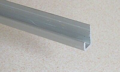 "2 x Aluminium Unequal U Channel Panel Edge Cappings [23.8mmx 11.2mmx 1/2""] VAT I"