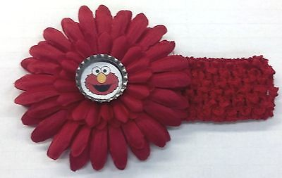 NWOT Sesame Street Elmo Bottle Cap Flower & Headband - CHOICE of Design & Color