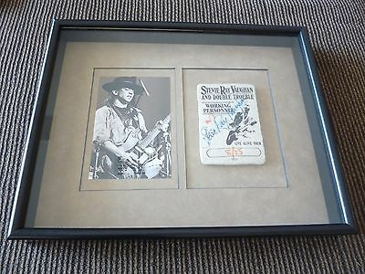 Stevie Ray Vaughan 1 Of 1 Signed Autographed Backstage Pass 1987 PSA Certified