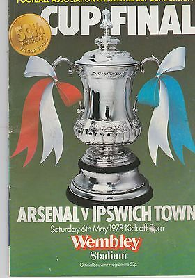 Arsenal V Ipswich Town ~ Fa Cup Final 1978