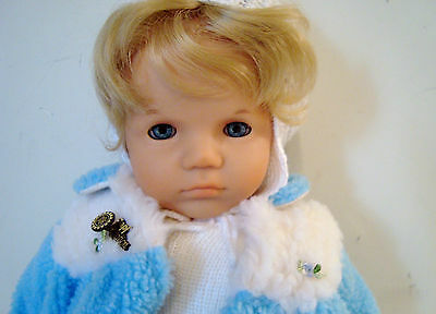 Vintage Zapf Creation Baby Doll Blond Blue Eyed Made In West Germany