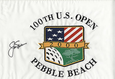 Jack Nicklaus Signed 2000 Pebble Beach Flag Autographed - PSA