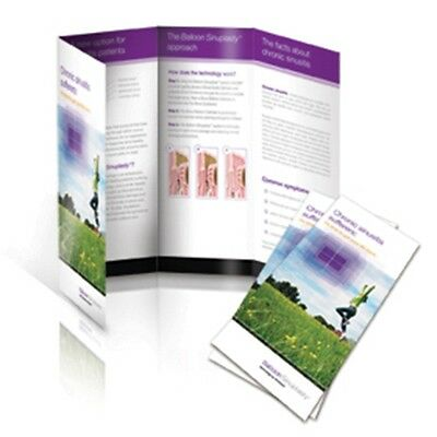 """1000 Roll Fold Glossy Brochures REAL PRINTING not copies 8 1/2"""" x 11"""" Full Color"""