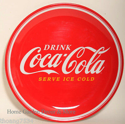 "NEW Gibson Drink Red Classic COCA COLA 10.5"" Hard Plastic Melamine DINNER PLATE"