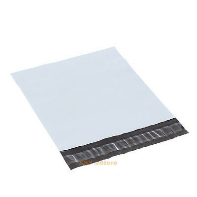 """100 White Poly Mailers Envelopes Mailing Bags 6"""" x 9""""_155 x 235+45mm"""