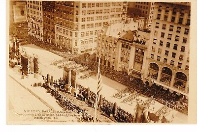 First War Victory 5th Ave Parade 1919 Photo NY 27th Div