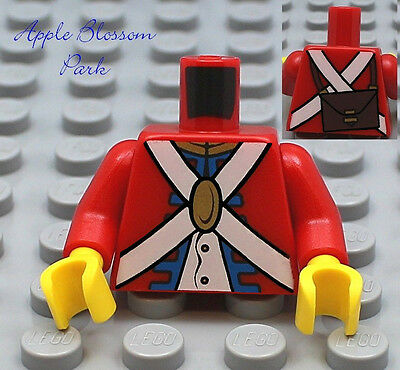 Torso Pirates NEW LEGO Imperial Soldier Red x 1-6243 6239 10210 6241