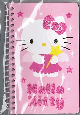 Sanrio HELLO KITTY Small SPIRAL Notebook! NEW PACK Fairy Kitty Glitter!