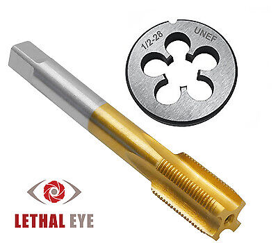 """NEW 1/2""""-28 Tap and Die Set TiN Coated Tap RH Thread ==LIFETIME WARRANTY=="""