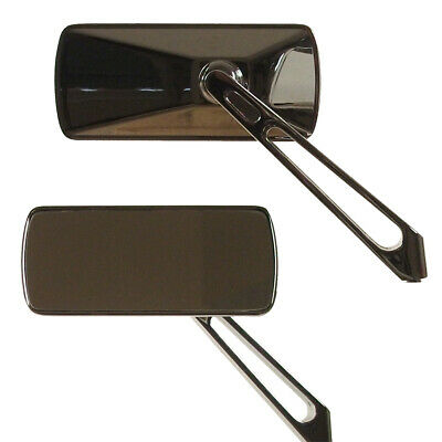 Rectangular Mirrors with Straight Cut-Out Stem for Harley-Davidson