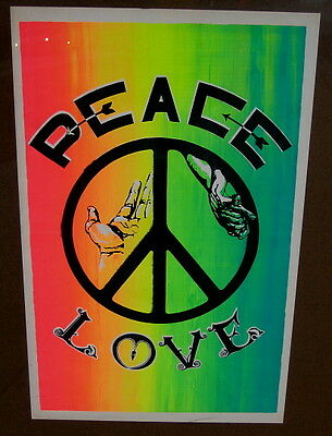 Psychedelic 1969 poster protest PEACE & LOVE