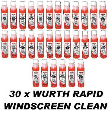 30 x WURTH Rapid Windscreen Cleaner 32ml Concentrate Screen Wash makes 75-90lt
